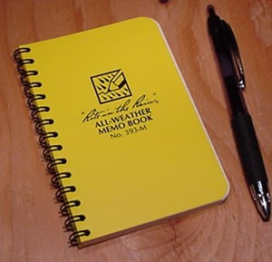 Rite in the Rain 393-M mini spiral notebook