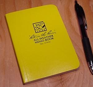 Rite In The Rain 374-M mini field flex notebook