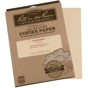 rite in the rain 9511t tan waterproof laser paper 200