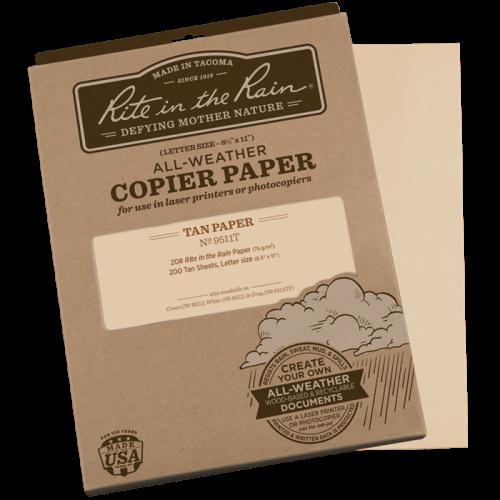 rite in the rain 9511t tan waterproof laser paper 200
