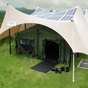 Powerfilm PowerShade Solar Field Shelter : 1KW