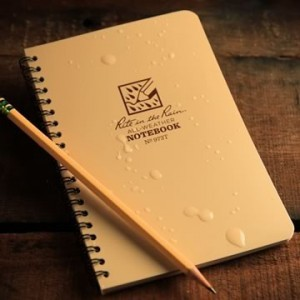 Rite in the Rain 973T : Weatherproof Spiral Notebook - Tan