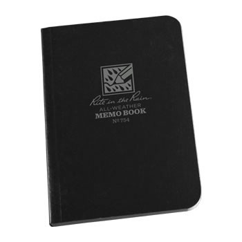 Rite in the Rain 754 : Field-Flex Mini Notebook (Black)