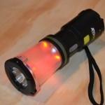 Dynamo USB Lantern/Flashlight - red