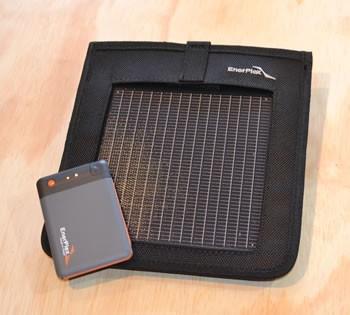 Enerplex Kickr 1 & Jumpr Mini UltraLight 1 solar charger kit