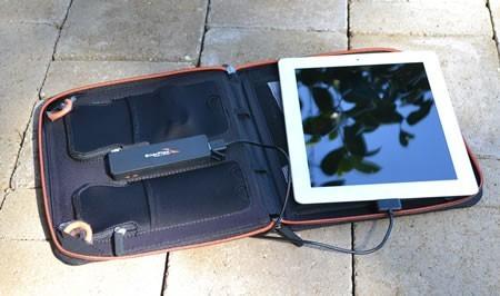 Enerplex Kickr II Plus charging iPad