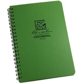 Rite in the Rain 973 : Weatherproof Spiral Notebook - Universal/Green