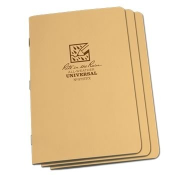 Rite In The Rain 971TFX : Stapled Notebook (Universal/Tan)