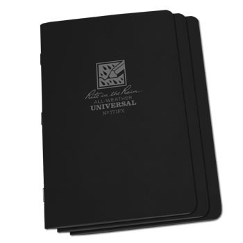 Rite in the Rain 771FX : Stapled Notebook (Universal/Black)