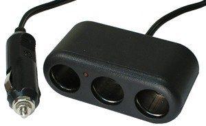 3-Way 12V DC Socket