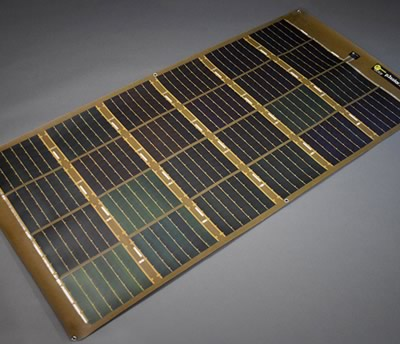 p3 200w rollable solar panel brown