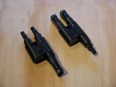 mc4 parallel branch connector pair