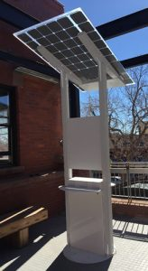 lumos juicebar solar charging station