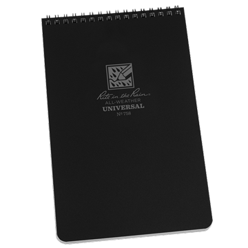 rite in the rain 758 top spiral notebook black