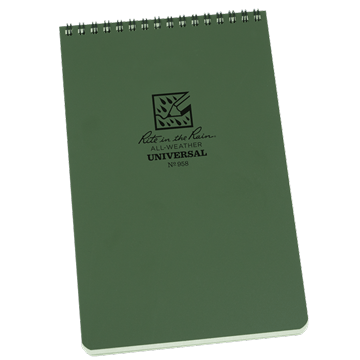 rite in the rain 958 top spiral notebook green