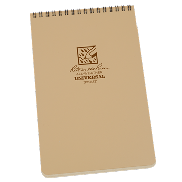 rite in the rain 958t top spiral notebook tan