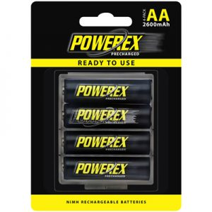 maha powerex precharged MHRAAP4 2600 aa battery