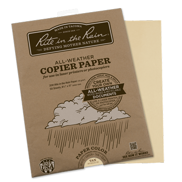 rite in the rain 9511t-50 laser paper