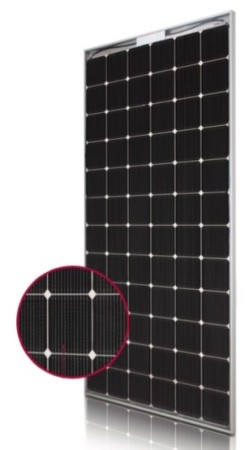 LG bifacial module LG380n2w-a5