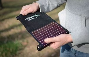 powerfilm LightSaver roll out USB solar charger