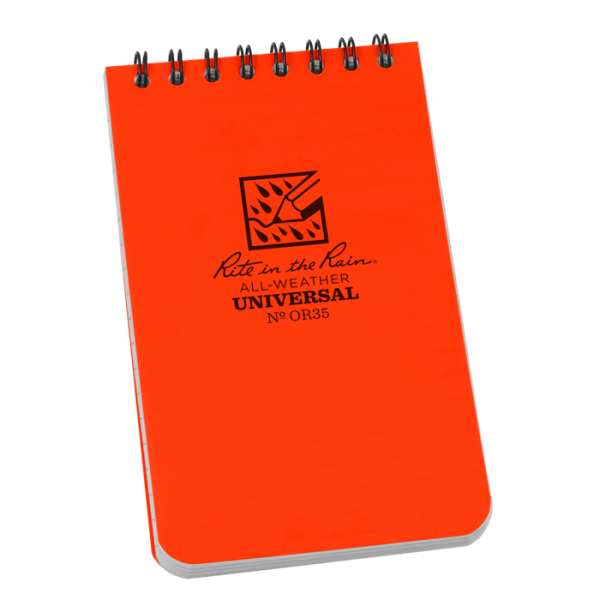 rite in the rain or35 orange pocket notebook