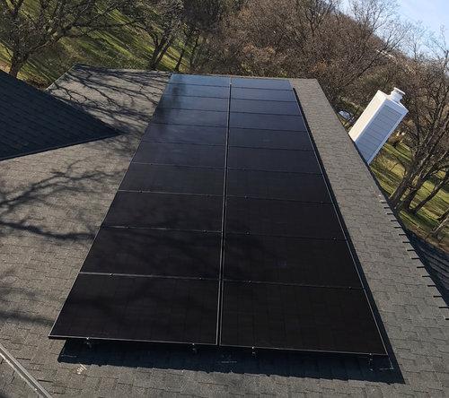 Solaria solar module Installation