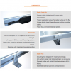 Spyder roof rail components