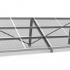 titan lite fixed solar ground mount transparent