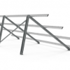titan lite fixed solar ground mount bifacial rear
