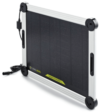 goal zero maintainer 10 solar trickle charger angle