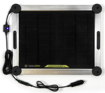 goal zero maintainer 10 solar trickle charger cla 12v plug