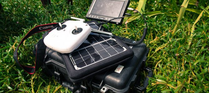Solar Charging Drones In The Wilderness