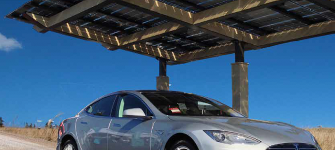 Solar Charging An Electric Vehicle