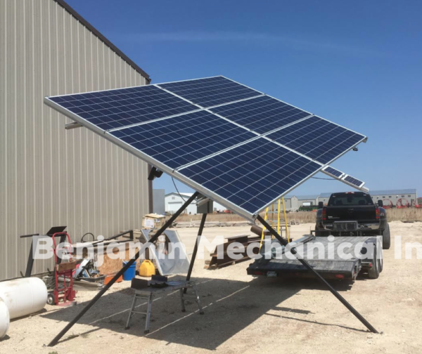 Benjamin Mechanical dual axis solar tracker