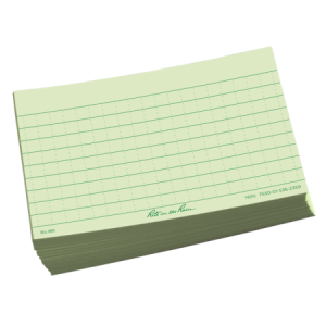 rite in the rain 991 index cards green