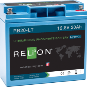 relion RB20-LT 20ahr, 12v low temperature lithium battery lfp