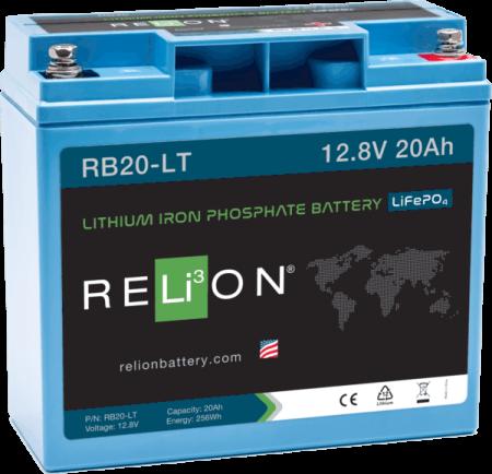 relion RB20-LT 20ahr, 12v low temperature lithium battery lfp