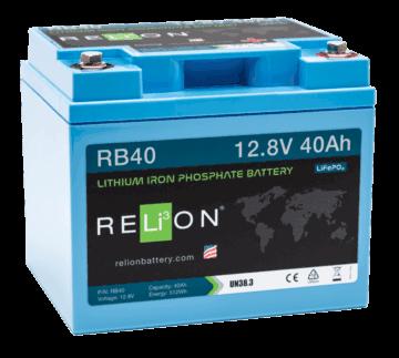 relion RB40 40ahr, 12v lfp battery