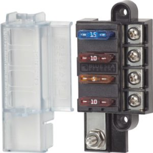 blue sea 5045 4-circuit compact fuse block atc