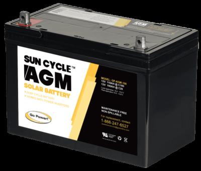 Go power AGM battery 100ah 12v