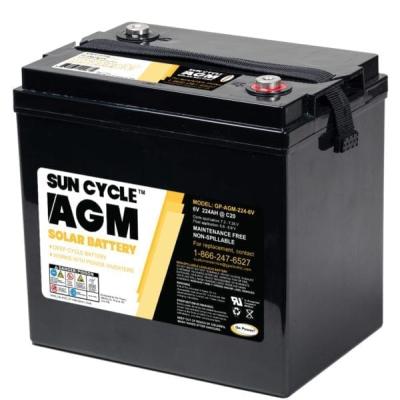 go power AGM battery 224ah 6V