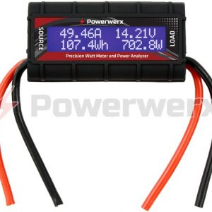 powerwerx wattmeter bare dc inline power analyzer 45a