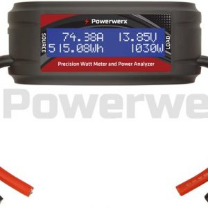 powerwerx wattmeter plus dc inline power analyzer 75a wmplus