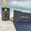 powertraveller condor 100 portable solar AC battery